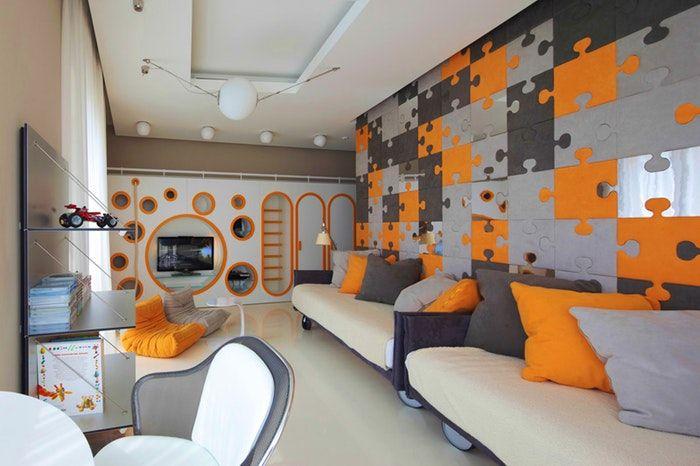 Déco, Chambre Ado Orange Et Gris 08 ~ Lille 17310652 Petit ...