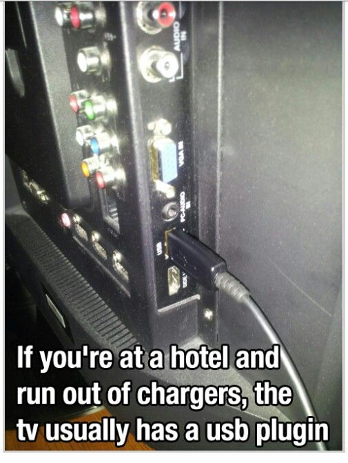 Travel tips to charge stuff