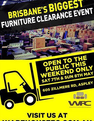 Warehouse Furniture Clearance Sale Open To The Public This Weekend Only Sat 7th May And Sun 8th May