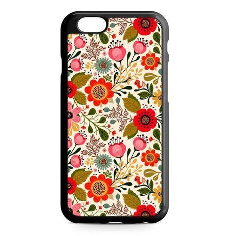Vintage Flower Floral Pink Red Bird Nature iPhone 7