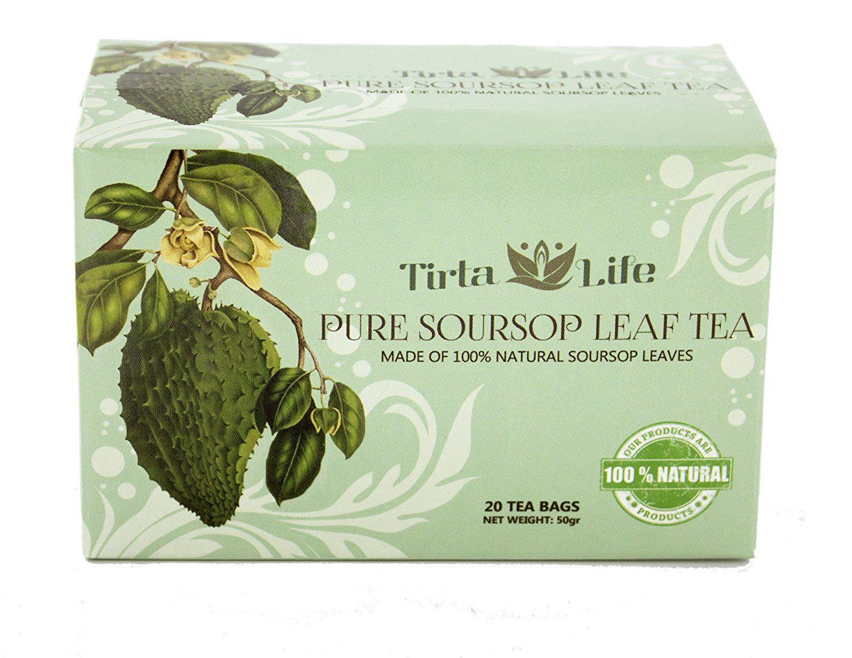 Tirta Life 100 All Natural Premium Soursop Graviola Guayabano Tea 20 Teabags
