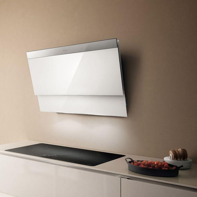 moderne-Dunstabzugshaube-Kopffreihauben-Design-Kochflaeche - moderne dunstabzugshauben küche