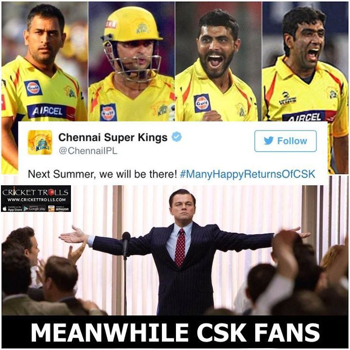 Chennai Super Kings Announces The Comeback In Ipl 2018 For More Cricket Fun Click Http Ift Tt 2gy9biz Http Ift Chennai Super Kings Cricket Team Cricket