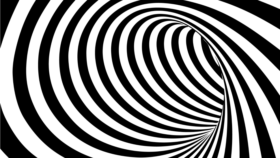 Good Continuation Because Of The Orientation And Shape Of The Smoothly Curved Lines This Image Appears To Be A Optical Illusions Illusions Abstract Artwork