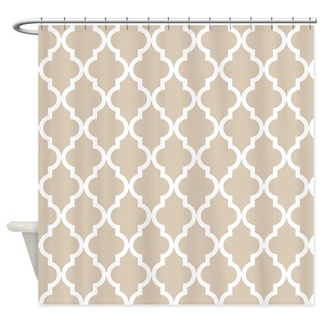Brown Beige Quatrefoil Moroccan P Shower Curtain By 13 Tactical