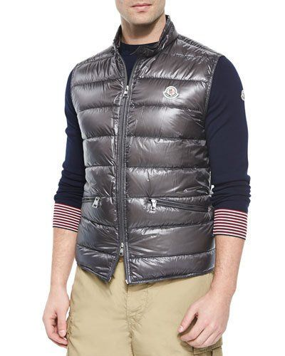 d25afb24d N2TNS Moncler Gui Quilted Puffer Vest, Graphite | Vests in 2019 ...