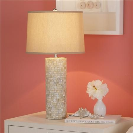 Mother of pearl table lamp home decor pinterest table lamp mother of pearl table lamp aloadofball Images