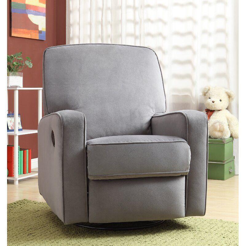 Hemington reclining glider glider recliner chair swivel