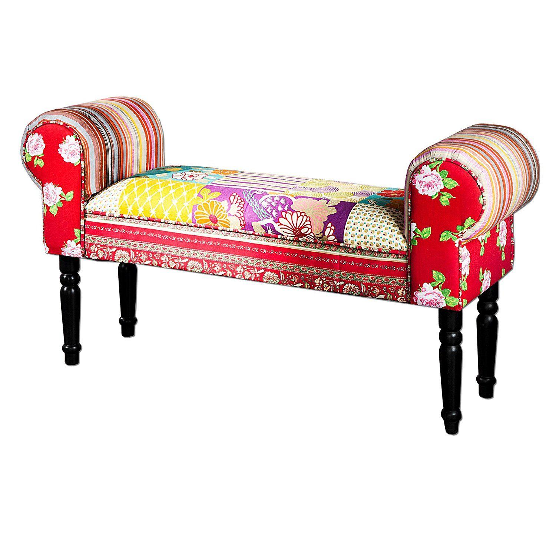 design patchwork bank ibiza mehrfarbig sitzbank bunte bank mit, Wohnzimmer