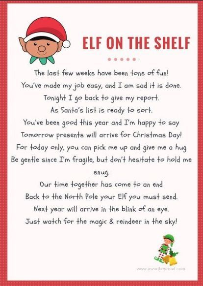 20+ FREE Elf on the Shelf Departure Letters! Many NEW!!