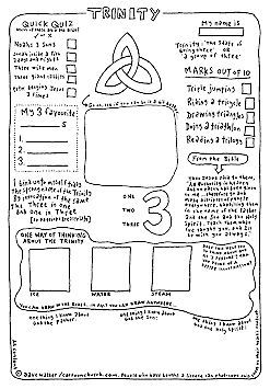 Cartoon worksheet: Trinity