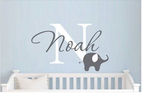 Make With Your Cricut Baby Nursery Wall Decals Nursery Wall Decals Boy Elephant Wall Decals