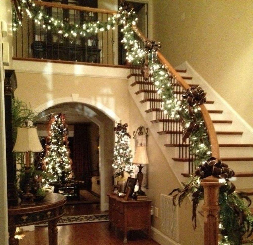 Indoor Wreaths Home Decorating: 49 Elegant Indoor Decor Ideas With Christmas Lights