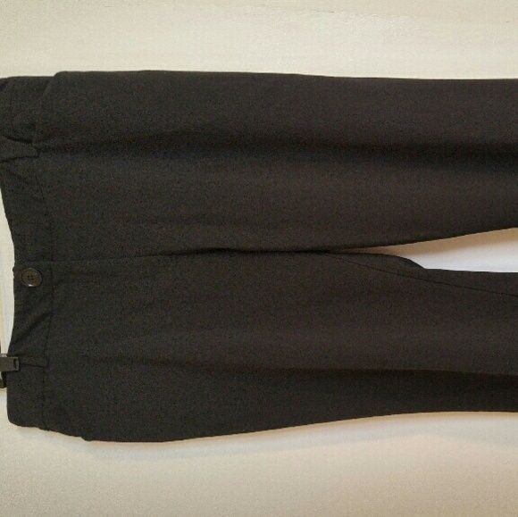 Briggs New York dress slacks One button zip front,side pockets, solid black Pants Boot Cut & Flare