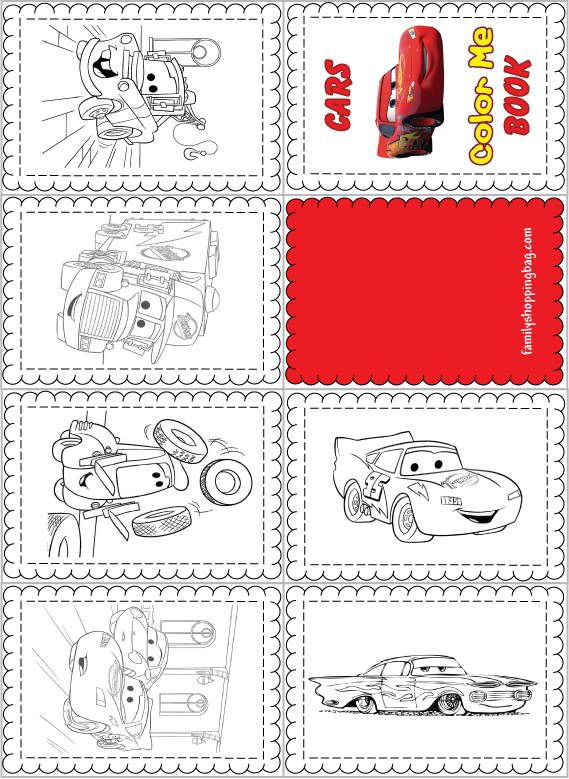 Cars Color Me Mini Book Cars Coloring Pages Coloring Books Coloring Pages