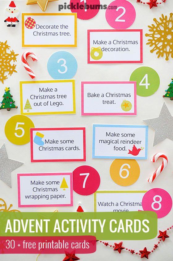 Advent Calendar Printables Advent Calendar Activities Printable Advent Calendar Advent Calendars For Kids