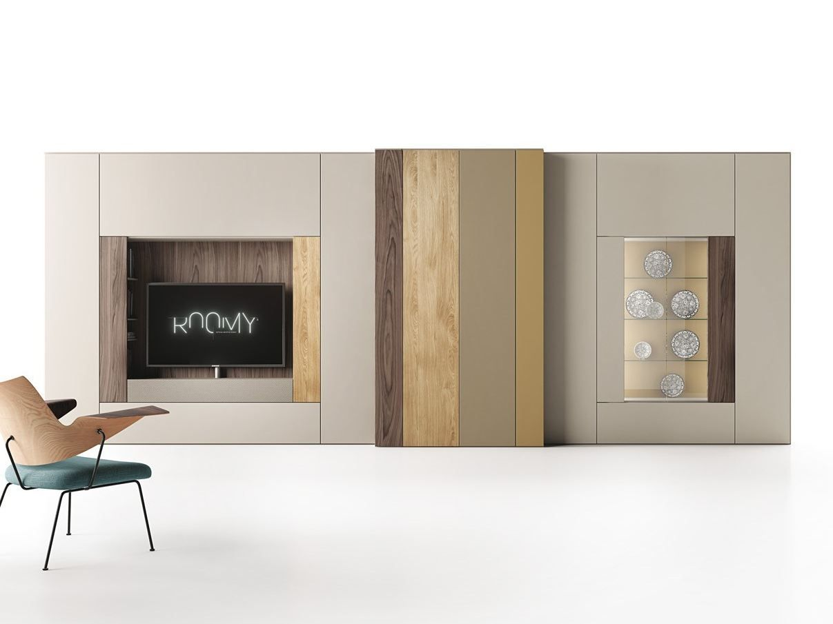 Letto Ad Angolo Caccaro : Roomy parete attrezzata con porta tv by caccaro design sandi renko
