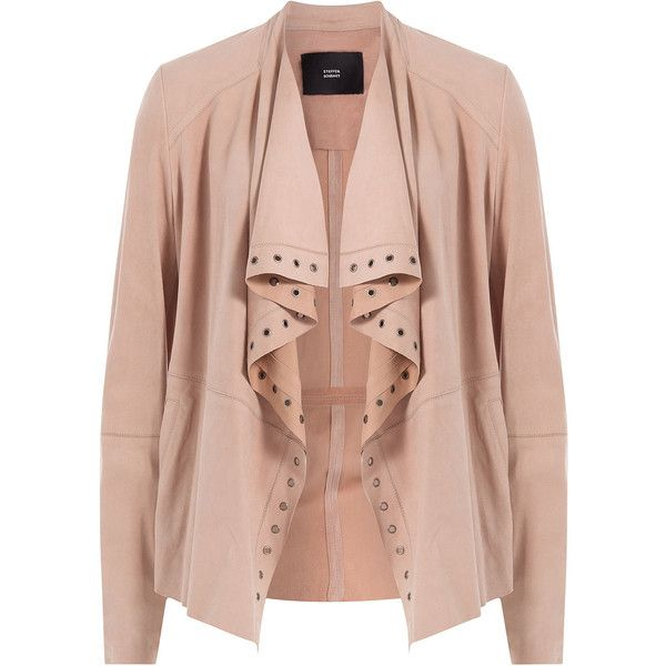 clothing bb brown drapes faux draped jacket lyst suede dakota drape wade whiskey in