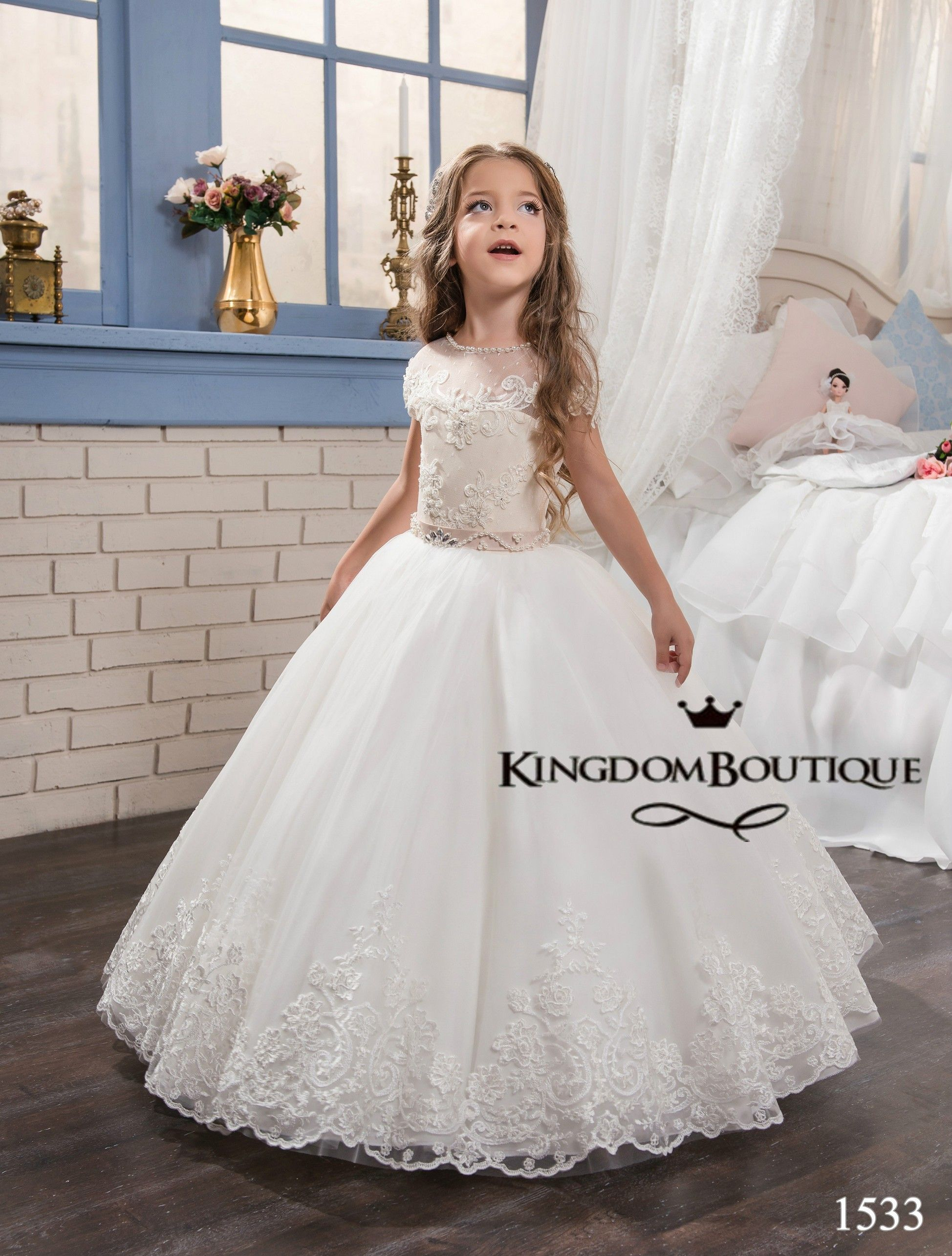 258735d5f Cappuccino Kingdom Boutique children's gowns for special events. Sleeping  Beauty : Dress 16-1533 - kingdom.boutique Children's Wedding Dresses Flower  Girl ...