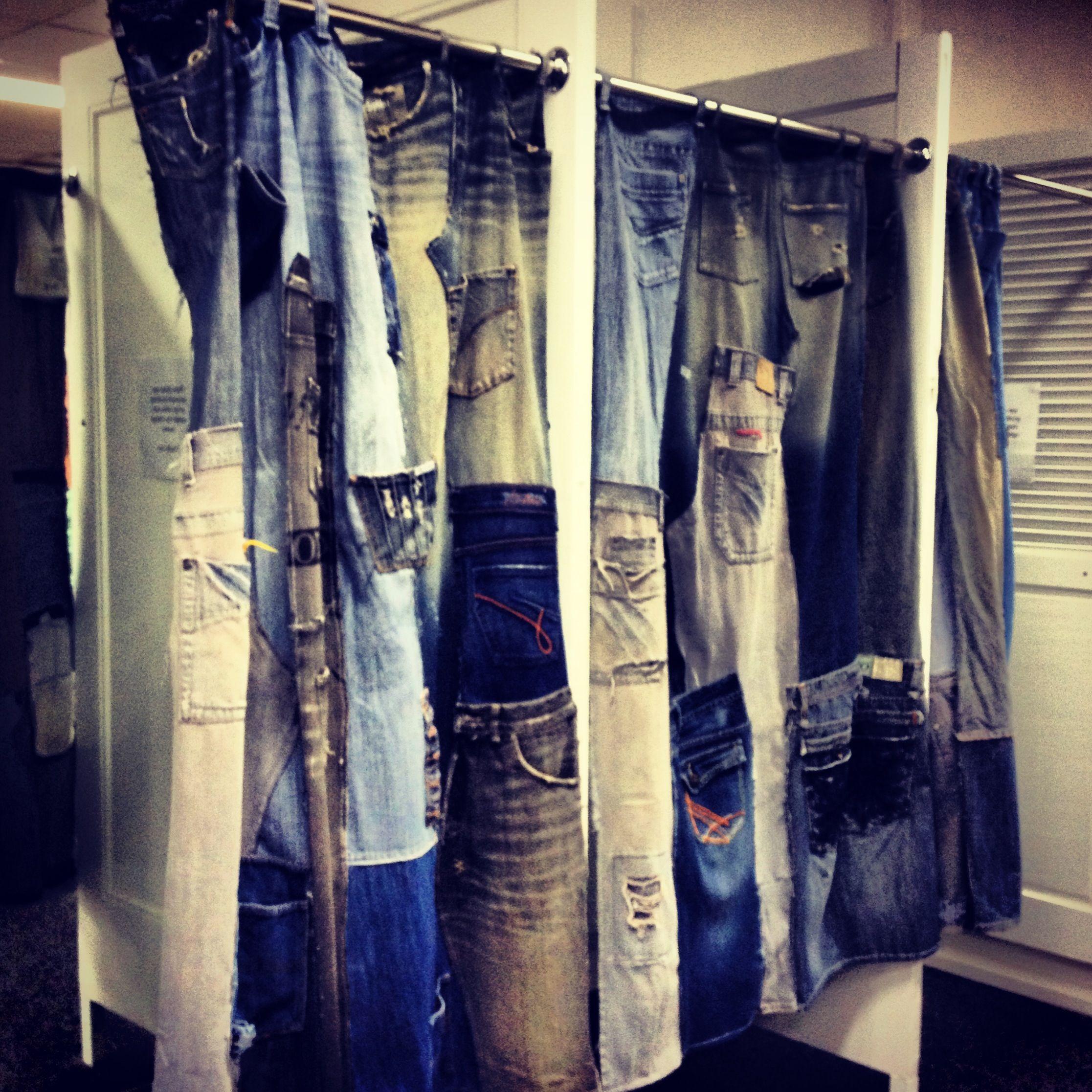Шторы из джинсов картинки