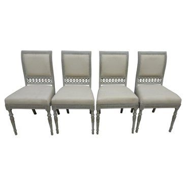 Check out this item at One Kings Lane! Swedish Gustavian Side Chairs, S/4