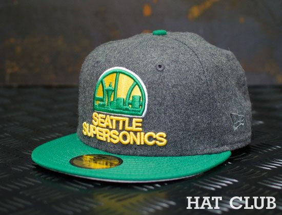 Custom Seattle Supersonics 59fifty Fitted Cap By New Era Hat Club Seattle Hats New Era Hat Hats