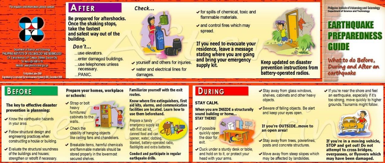 What to Do in an Earthquake What to do in case of an