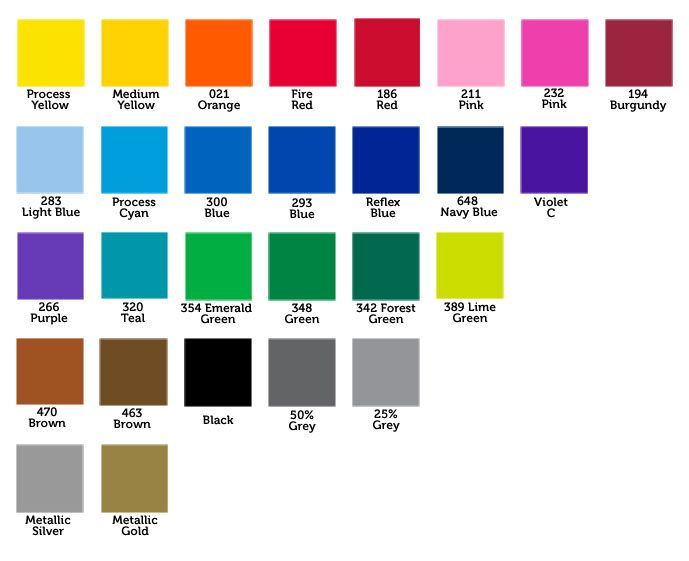 Basic colour chart My favourite colour combinations Pinterest - sample pms color chart