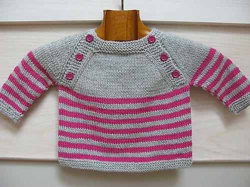Langoz baby sweater pdf knitting pattern - French & English in 2018 ...