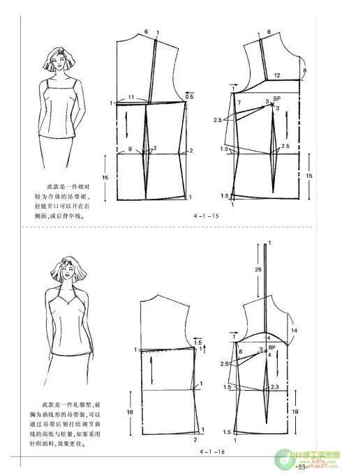 服装裁剪实用手册-上装篇 | Pattern | Pinterest | Costura, Moldes y ...