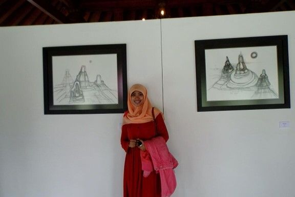 Pameran Sketsa Candi Borobudur Show Off Exhibition Borobudur Temple
