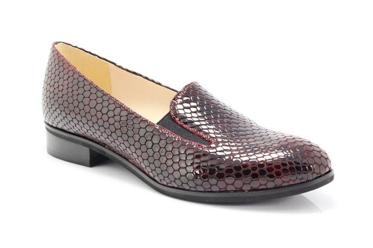 Gamis 1514 Bordowy Lordsy Piekna Bordowa Skora Buty Damskie Lordsy Pora Roku Damskie Wiosna Pora Roku Damskie Lato Pora Roku Loafers Shoes Fashion