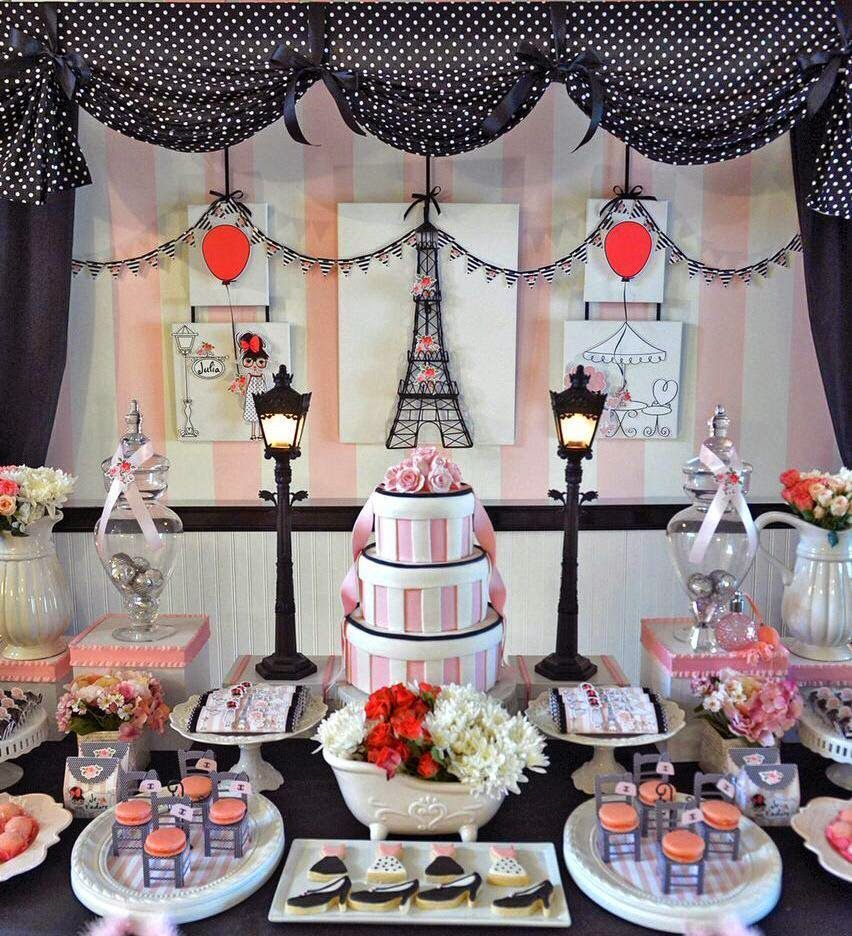 Paris themed birthday party ideas - Im So Excited To Share With Gorgeous Paris Themed Party By The Very Talented Rogeria