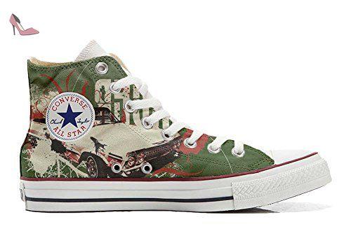 Make Your Shoes Converse Customized Adulte - chaussures coutume (produit artisanal) Brown Paisley size 37 EU kH4Tj