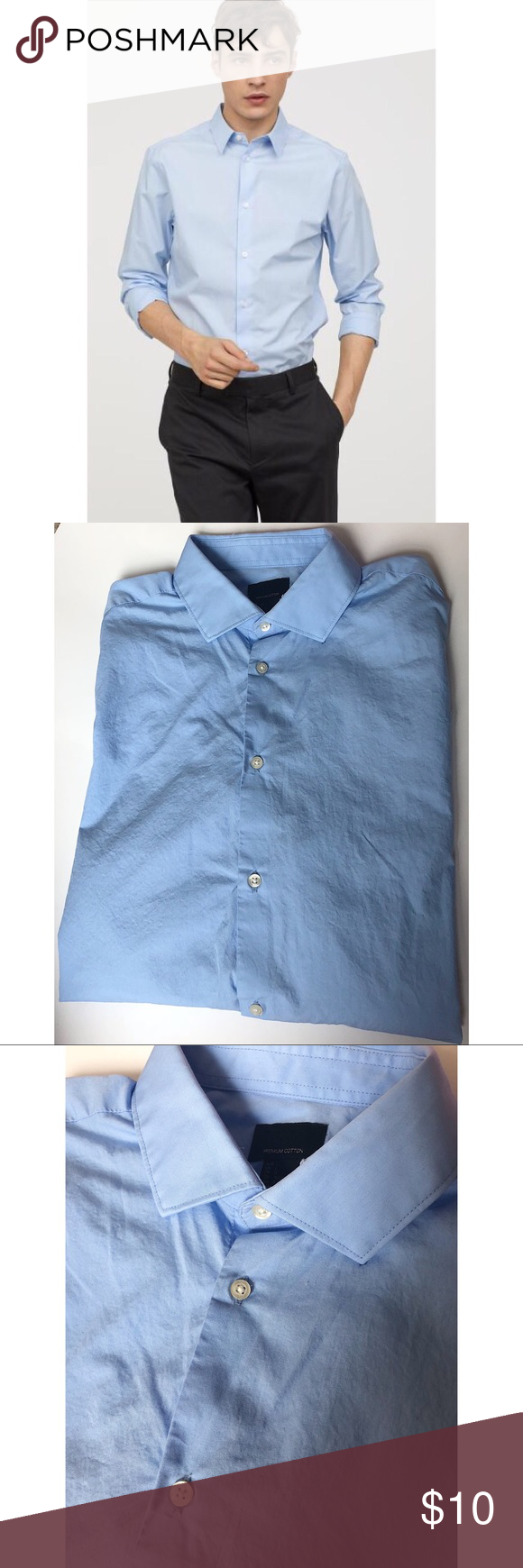 2 25 H M Men S Premium Cotton Shirt L H M Men S Premium Cotton