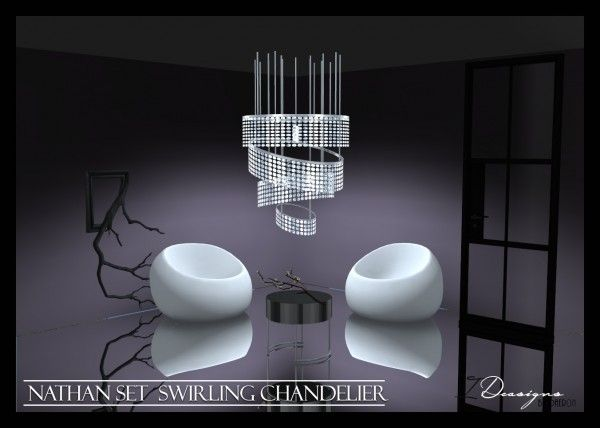 Sims 4 Designs Nathan Set Swirling Chandelier Sims 4