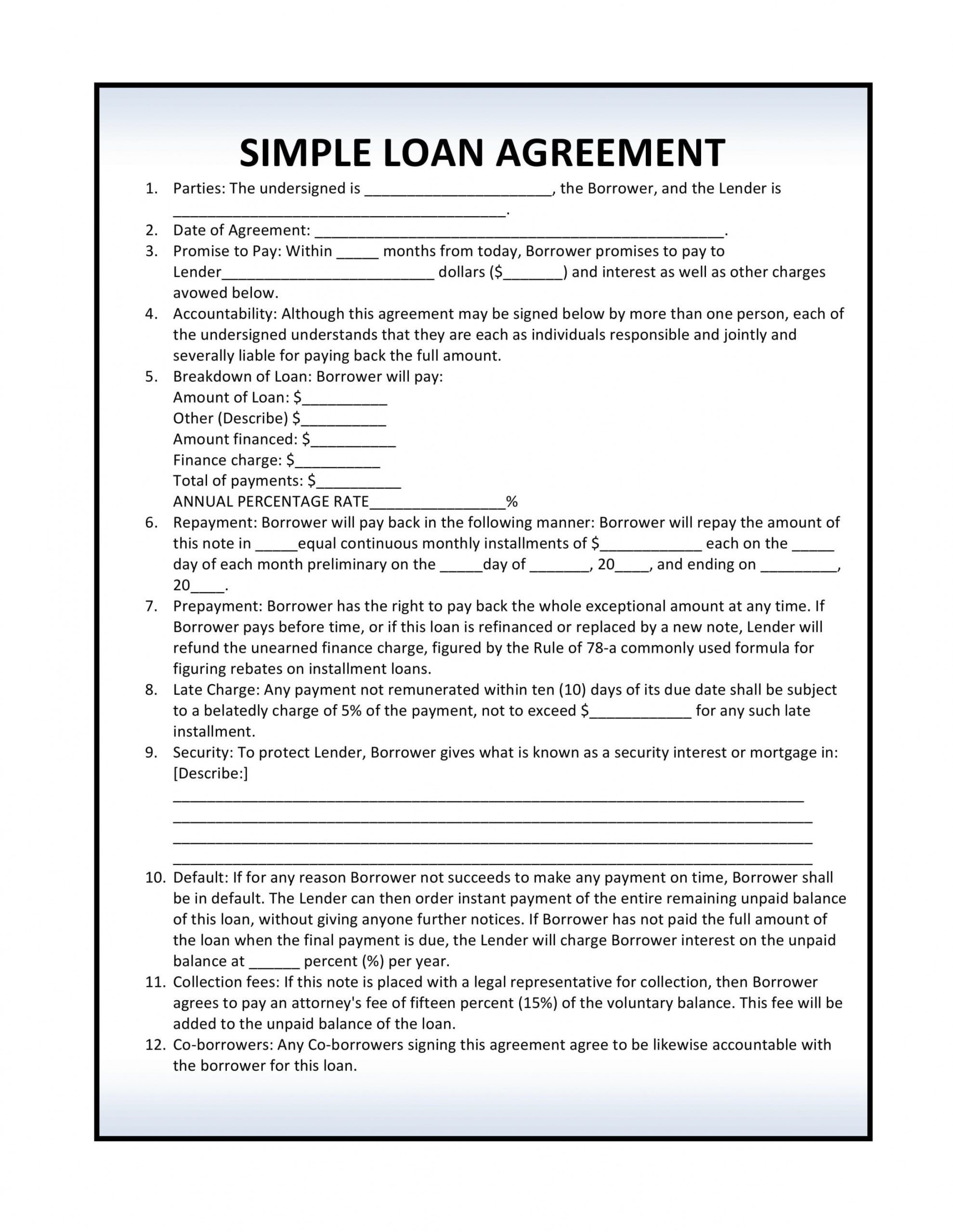 Get Our Sample Of Art Loan Agreement Template Contract Template Personal Loans Loan