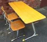 Neu Bei Goldpony Klassischer Schulschreibtisch Metall Kinder Mobel 60er Tisch