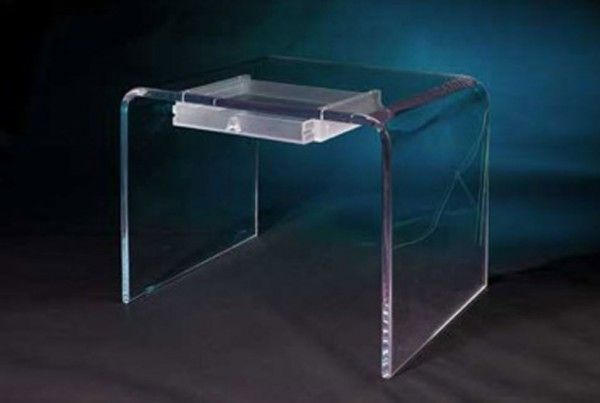 Acrylic Writing Desk With Drawer Acrylic Furniture Modern Table