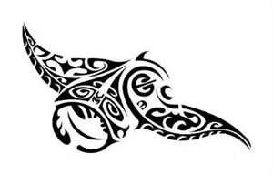 Pochoir tatouage temporaire unik tattoo tribal 63 raie manta tattoos tattoos hawaii tattoos - Dessin raie manta ...