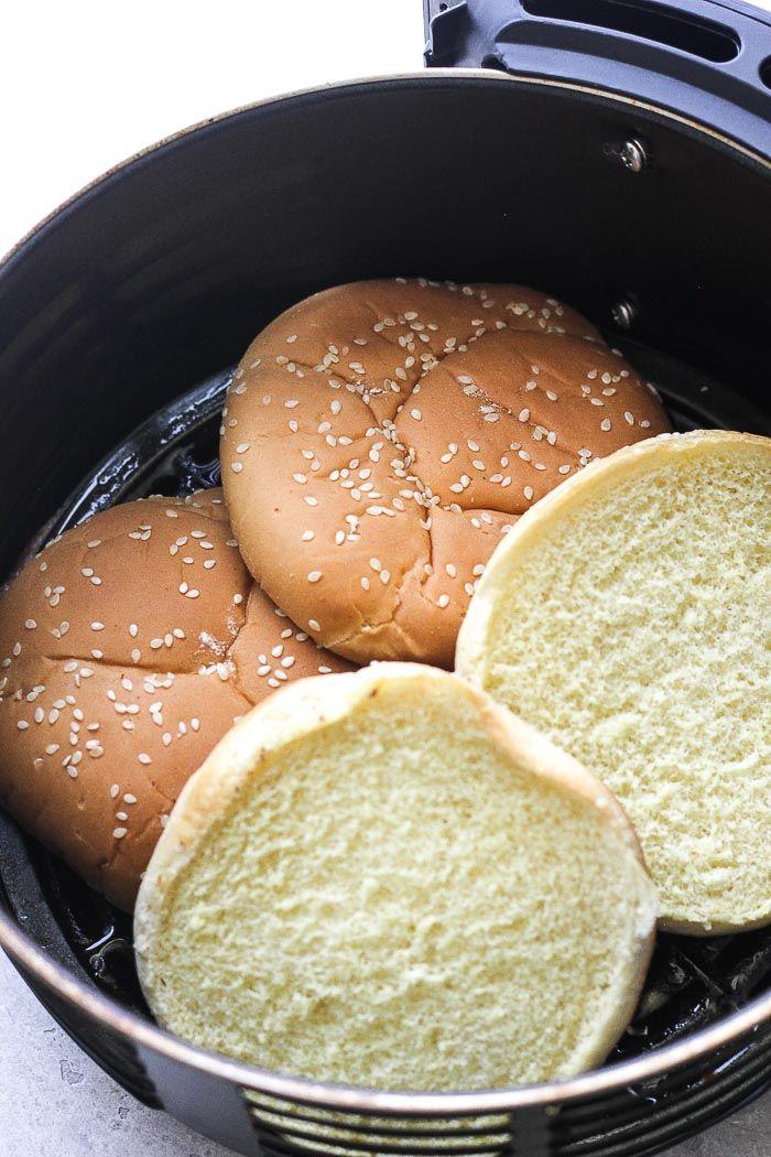 Air fryer hamburger recipe Berry&Maple Air fryer