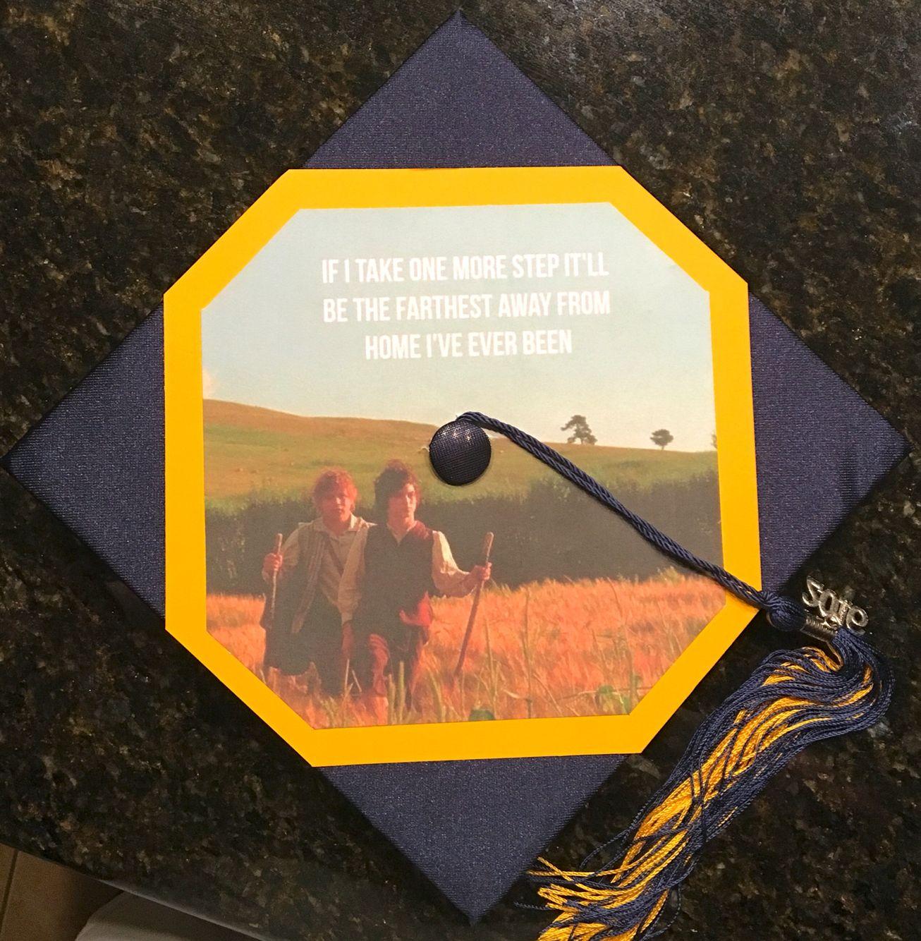 Lord Of The Rings Graduation Cap Graduation Party Planning Graduation Diy Diy Graduation Cap