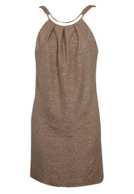#Vestido Sacada Pregas #Dourado R$358.00