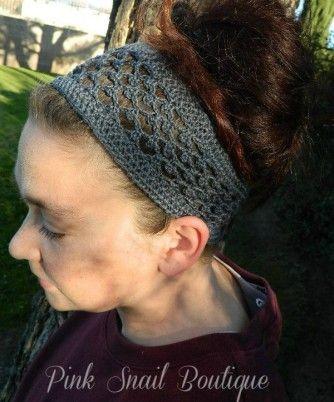 Peekaboo Picot Headband free pattern by Pink Snail Boutique ...