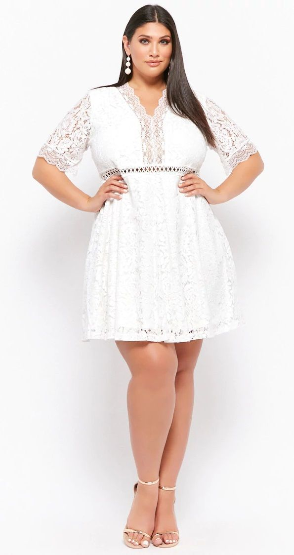 Plus Size Lace Fit & Flare Dress   Plus Size {Party Dresses ...