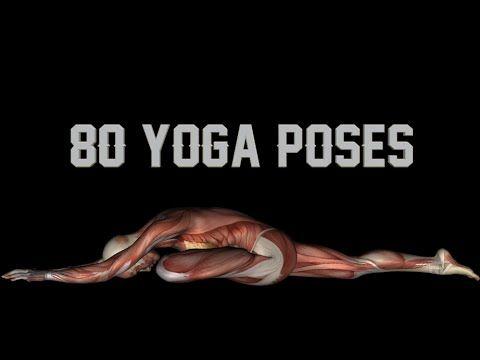 80 yoga poses w/ names  black background  https//www