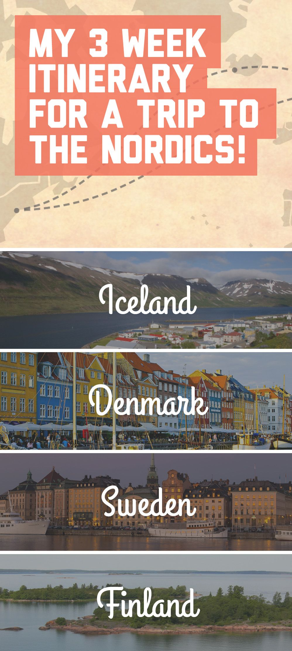 My 3 week itinerary for a trip to the Nordics! / A Globe Well Travelled
