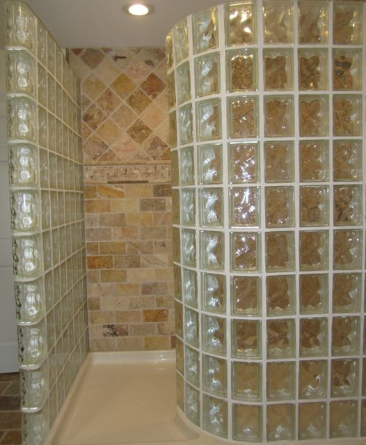 Quality Glass Block Walk in Shower Kit | Quality Glass Block ...
