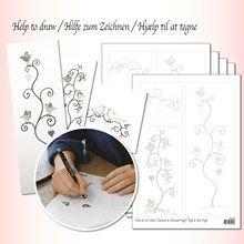 Help to draw & cut Birds 5 stk