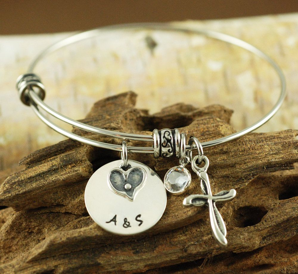 prayer bracelet dangle tone charm angel serenity silver cross with twist wings bangles bangle and metal products